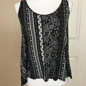 See You Monday black and white tank top